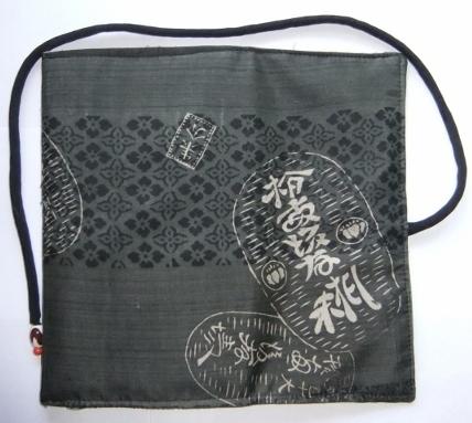 着物リメイク 男性用の正絹の長襦袢で作った和風お財布 1476