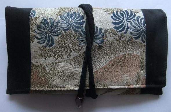 着物リメイク 帯で作った和風財布 1479