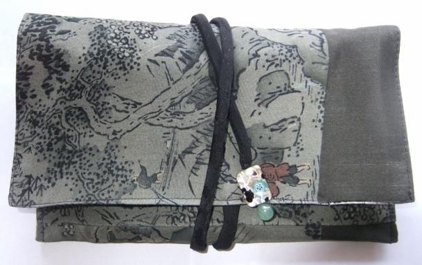 着物リメイク 長襦袢で作った和風財布 1481