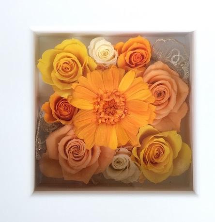 オレンジガーベラと薔薇たち