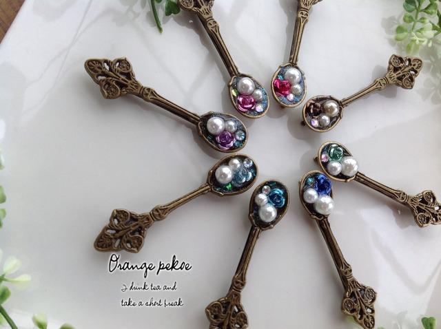 真珠のスプーンなヘアピン HA003