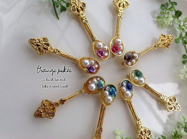 真珠のスプーンなヘアピンHA002