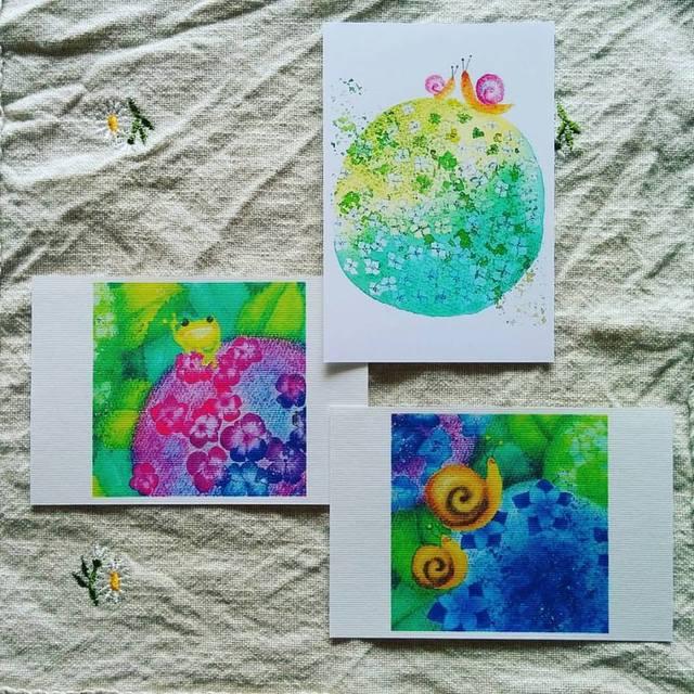 紫陽花ポストカード3点セット