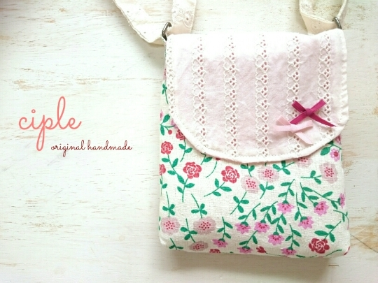 kids*ポーチポシェット【flower×lace ...