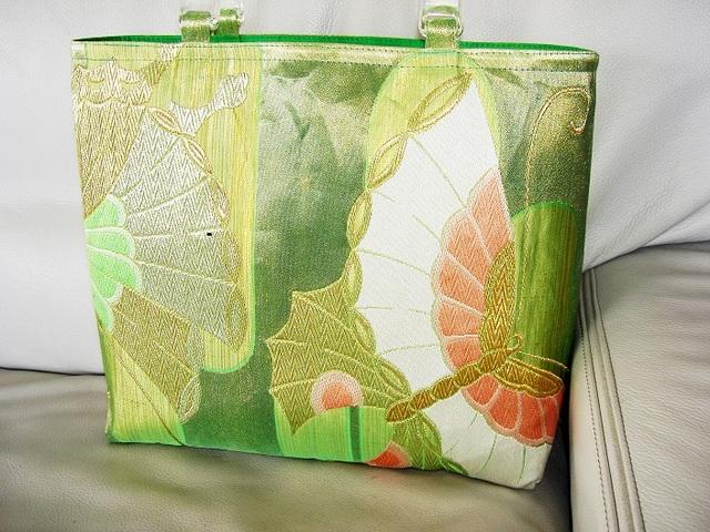 揚羽蝶の夏帯バッグ