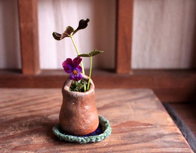 備前焼  ちび花器 チョロリ  選べるお座布