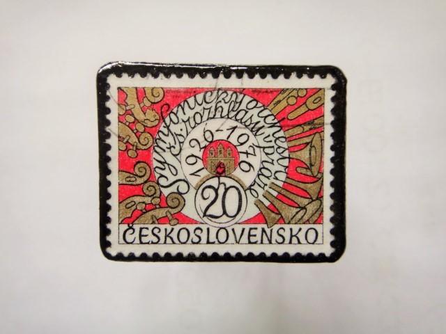 チェコスロバキア 切手ブローチ1138
