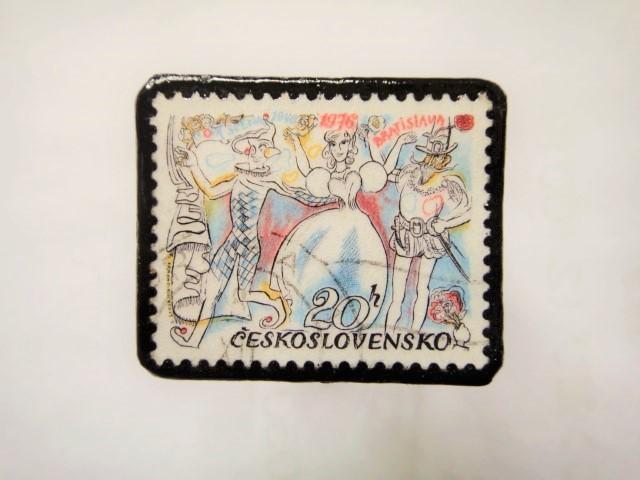 チェコスロバキア 切手ブローチ1139