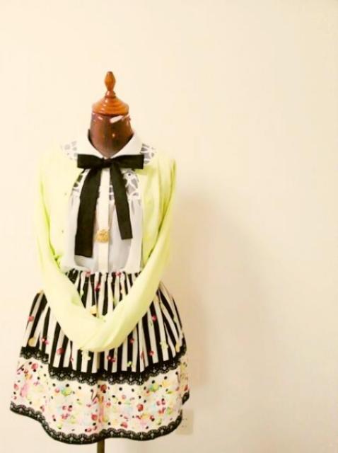フルーツパフェのギャザースカート