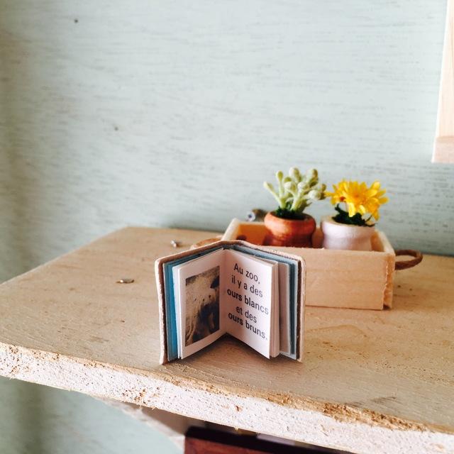 H&J×eico図書館 小さな植木鉢と豆本セット 熊