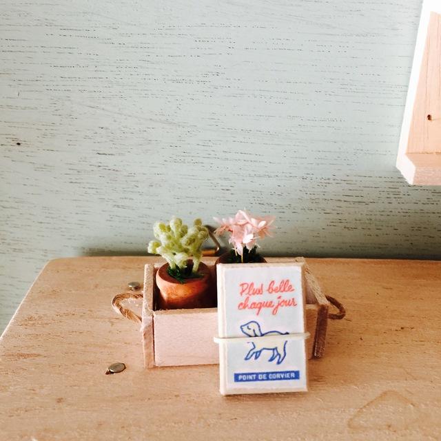 H&J×eico図書館 小さな植木鉢と豆本セット ハーブ