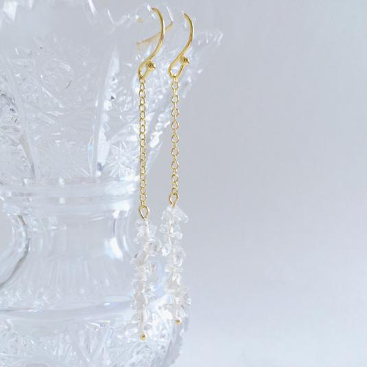 icy crystal 氷水晶の耳飾り