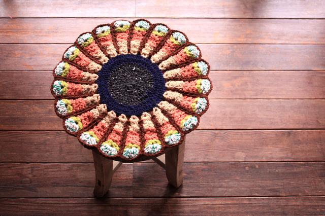 ●tarokun4141様オーダー品● お花の円座 リバーシブル 36cm