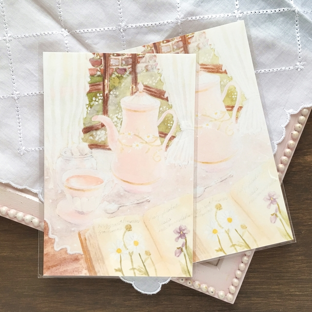紅茶と本の時間ポストカード
