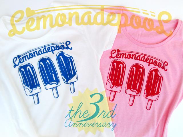 3本アイス柄Tシャツ(ホワイト/ピンク)