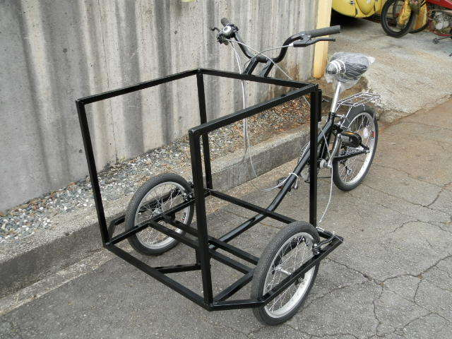 トライシクル 3輪自転車で移動販売始め...