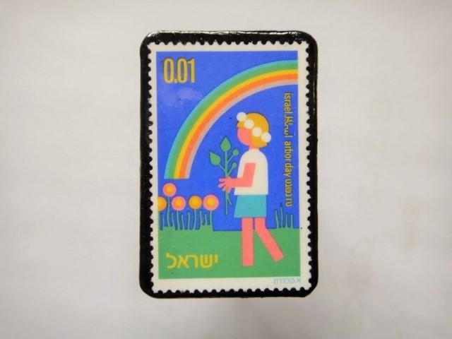 ユーゴスラビア 切手ブローチ1164