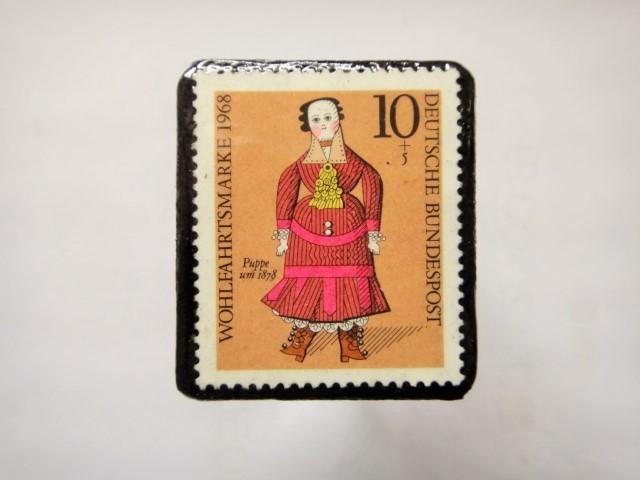 ドイツ 切手ブローチ1165