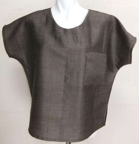 着物リメイク 大島紬で作ったTシャツ 1495
