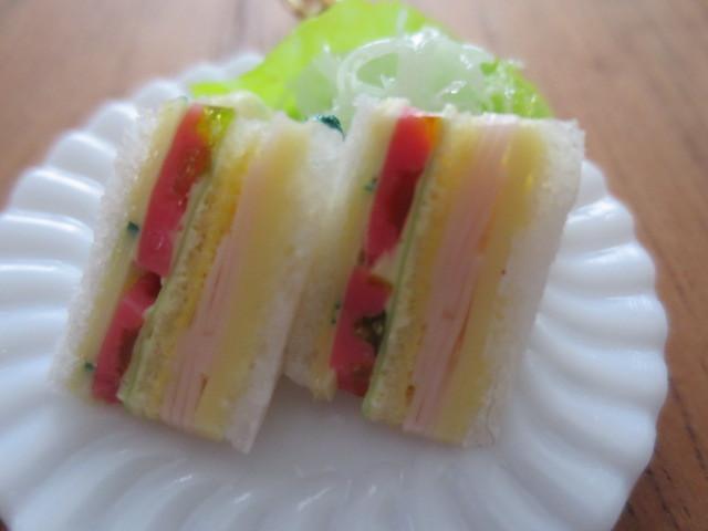 ☆スペシャルサンドイッチのプレートキーホルダー☆