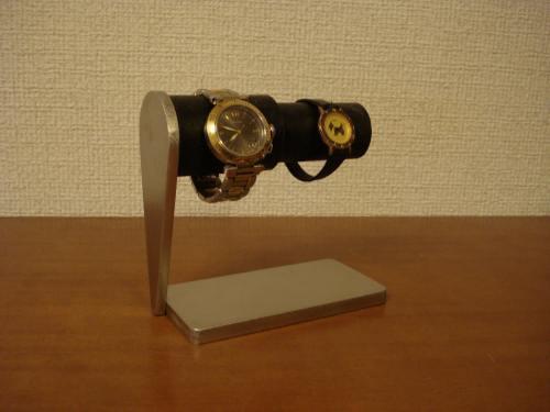 腕時計スタンド 太いパイプ、細いパイプ連結カップル腕時計スタンド ブラックコルク