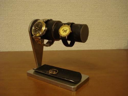 男女ペア腕時計スタンド ハーフパイプトレイ ブラックトレイ AKデザイン