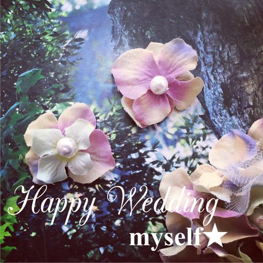 ブルーグレーの紫陽花イヤリング(ピアス)