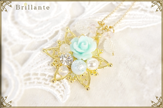 Christine necklace (mint)