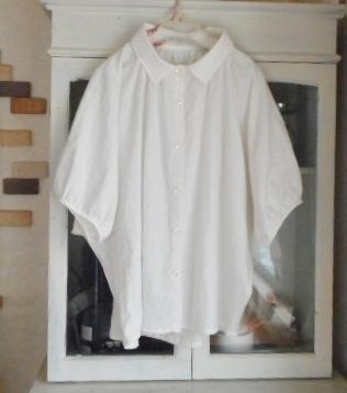 *mi様オーダー品*コットンリネンのドルマンスリーブふんわりシャツ