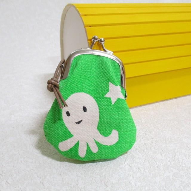 UFOに乗って来たタコ型宇宙人がまぐち yellowish green