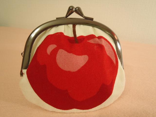 がま口財布(リンゴ)