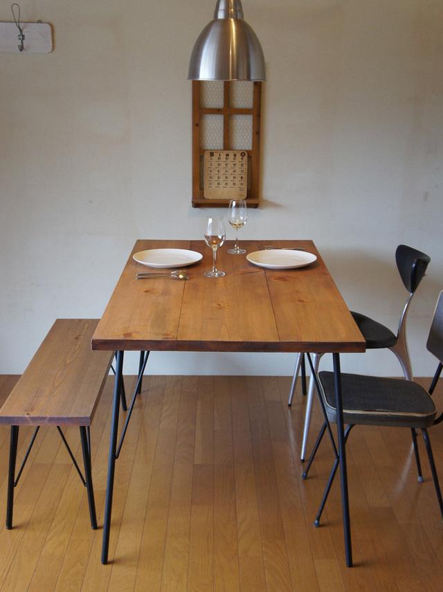 Landmark table & bench set  12*74