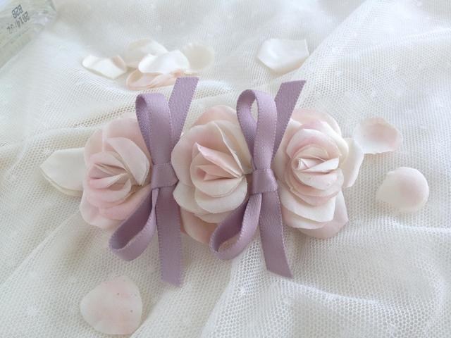 romantic rose&ribbonバレッタ