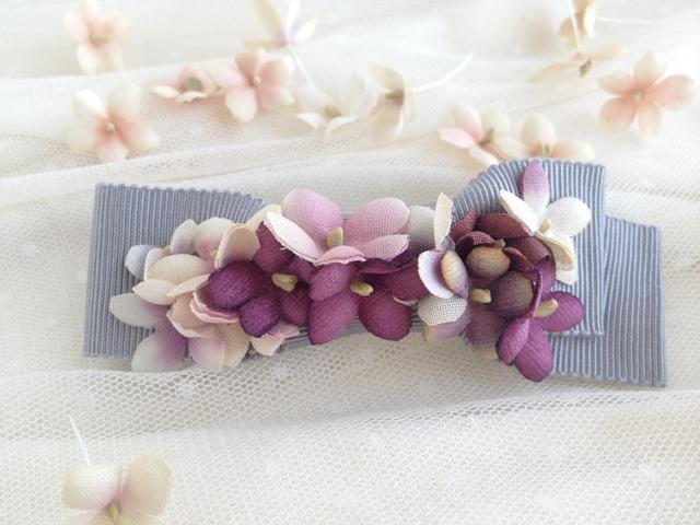 elegantBOWバレッタ/スミレ:purple