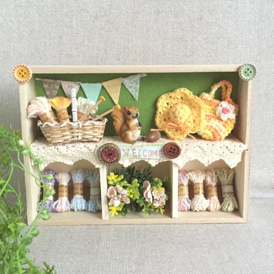 春・夏の森のニット屋さん(木の棚E)
