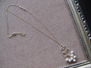 コットンパールと淡水パールのデザインネックレス