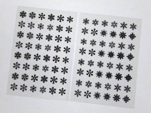 レジン封入用デザインフィルム(雪の結晶)
