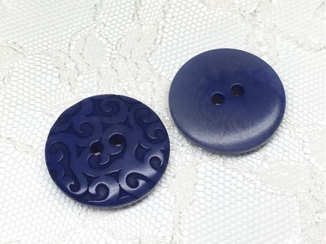 ボタン:平丸型(M)/ブルー/2コ入<66>