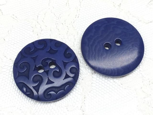 ボタン:平丸型(L)/ブルー/2コ入<69>