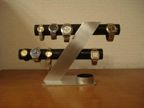 腕時計スタンド ブラック6〜8本掛けデザイン腕時計スタンド