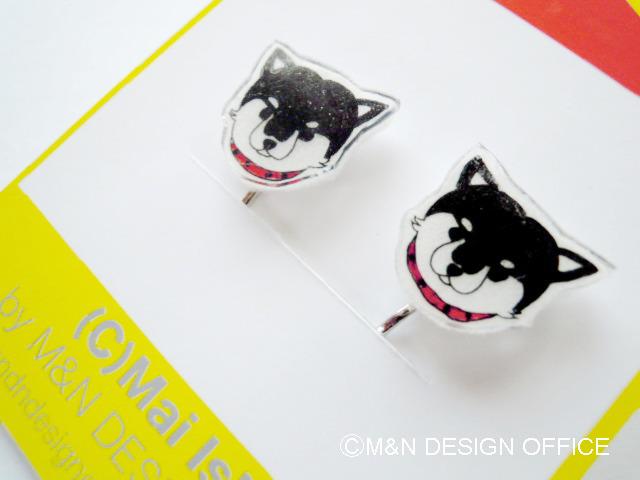 柴犬のイラストイヤリング