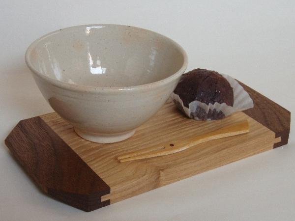 cup plate(タモ/ブラックウォールナット)