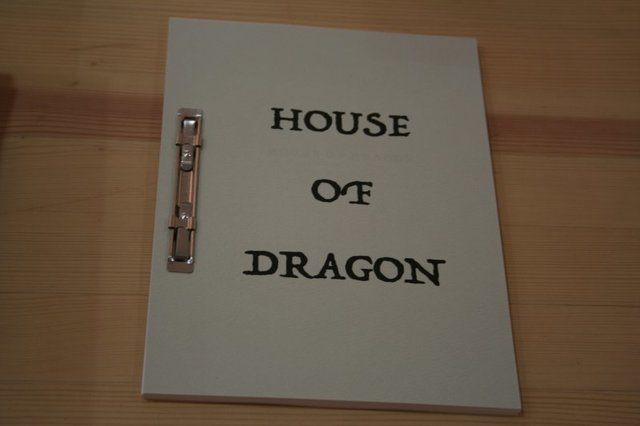 「HOUSE OF DRAGON」ファスナーブック