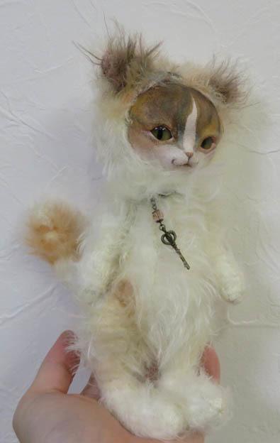 フェイスタイプドール*猫(白三毛)