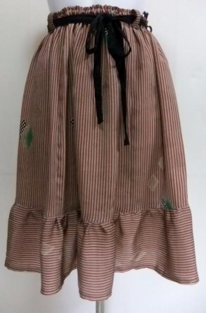 着物リメイク 正絹の着物で作った膝丈スカート 1503