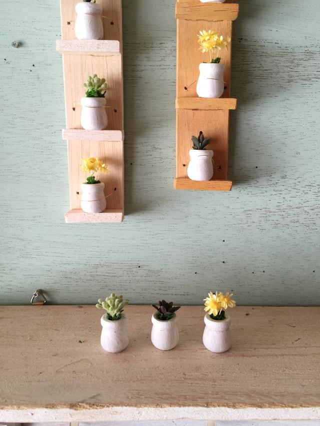 ミニミルクポットの植木鉢ホワイト3個セット