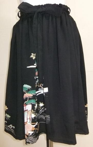 着物リメイク 色留袖で作った膝丈スカート 1510