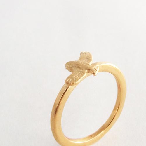 森のリング(フクロウ)ゴールド