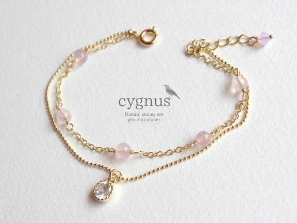 cygnus/ローズクォーツ10月誕生石