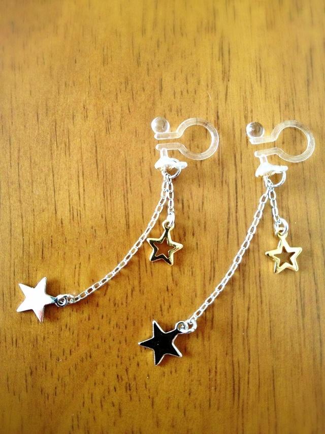 ふたごの流れ星イヤリング/ピアス .。.:*☆